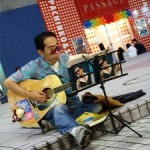 Street musician need strong vision as a musician in stead of sunglass