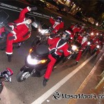 Japanese santa ride motor bike